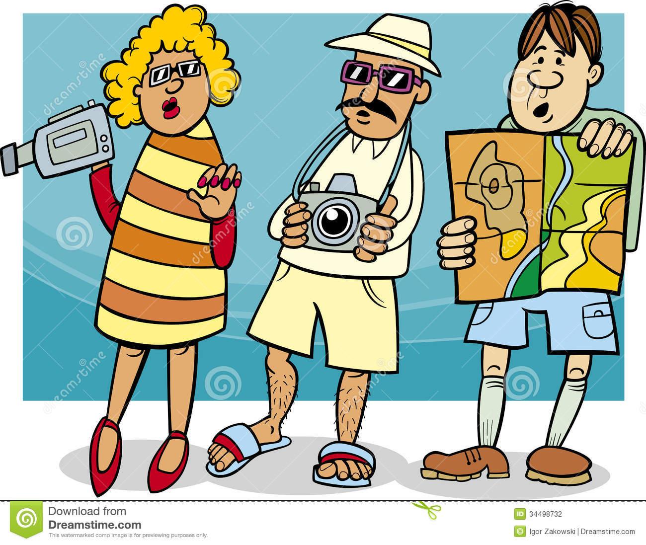 tourist-group-cartoon-illustration-funny-vacation-34498732