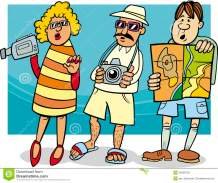 tourist-group-cartoon-illustration-funny-vacation-34498732